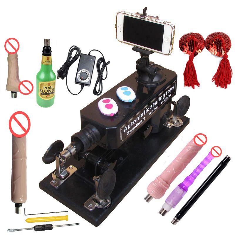 Sex Machine A09 avec prise de vue et vidéo Bluetooth, Machine d'amour automatique télescopique avec accessoires pour hommes et femmes