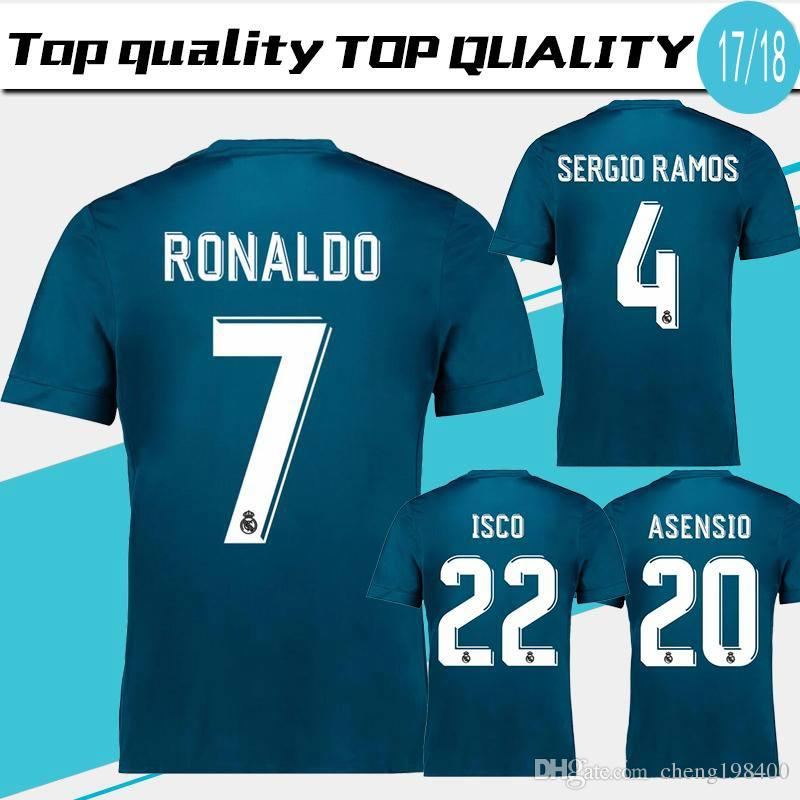 6d219e0cc 2019 Real Madrid Third Soccer Jersey 17 18 Real Madrid 3rd Soccer Shirt  2018 Ronaldo Bale Football Uniforms Asensio Isco Kroos MARCELO From  Cheng198400