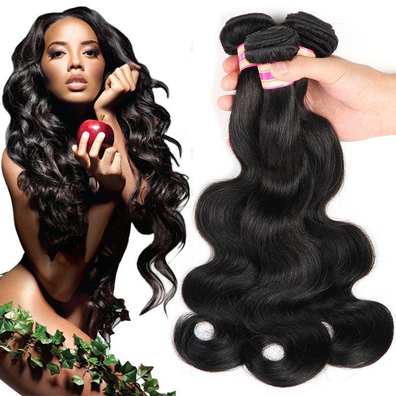 الماليزي الهندي البرازيلي العذراء الشعر حزم بيرو الجسم موجة الشعر ينسج اللون الطبيعي # 1 # 2 # 4 # 2 # 99J # 33 # 30