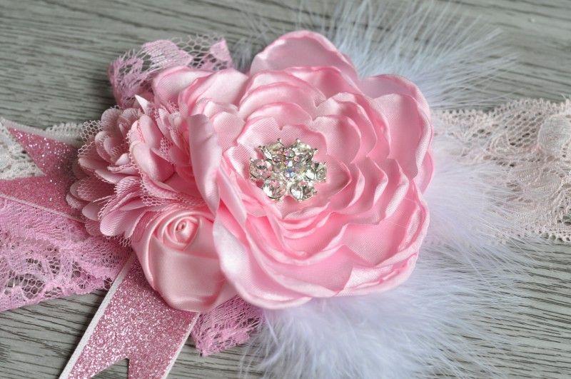 Baby Girls Lace Headbands Kids Girl 3D Rose Flower Headband 2017 Infant Princess Diamond Headband Children Hair Accessories Photo Props B620