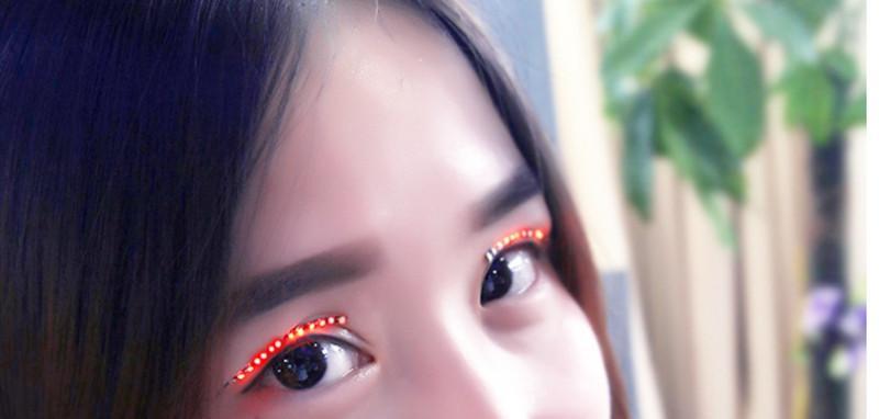 Hot Sale LED Eyelashes Luminous False Eyelashes Fashion Glowing Eyelashes Waterproof With Retail Pack for Dance Concert Party Nightclub