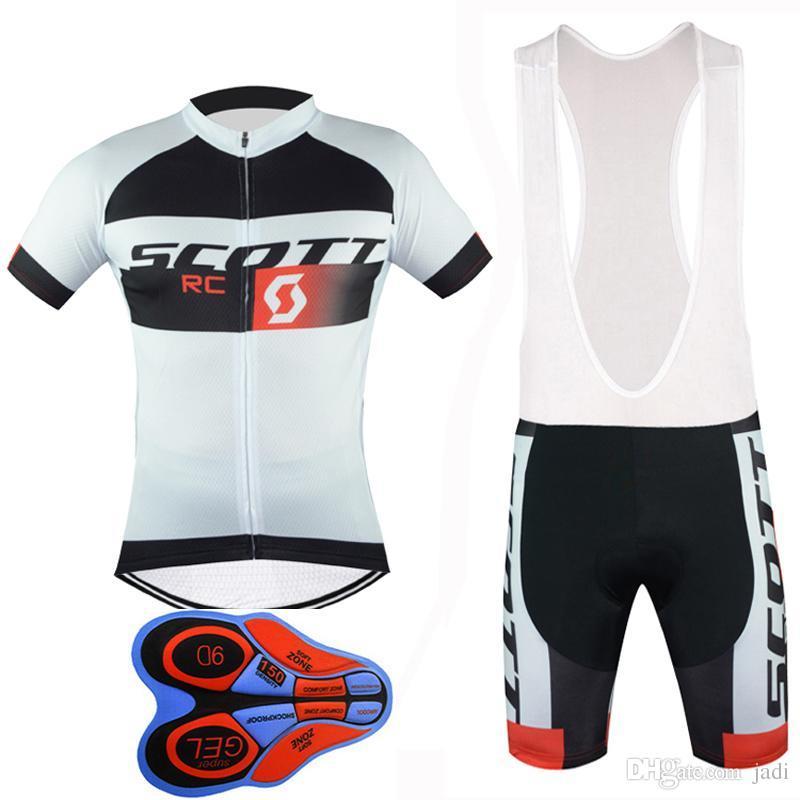 Bicicleta ao ar livre 2017 nova scott mangas curtas ciclismo jerseys 9d gel acolchoado bermudas definir estilo verão mtb maillot ciclismo f2401