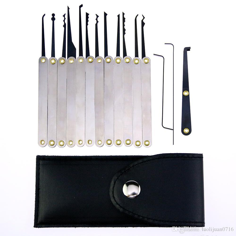 Free Shipping 15pcs Stainless Steel Lock Pick Kit Removal Key Set Locksmith Tools Door Lock Opener
