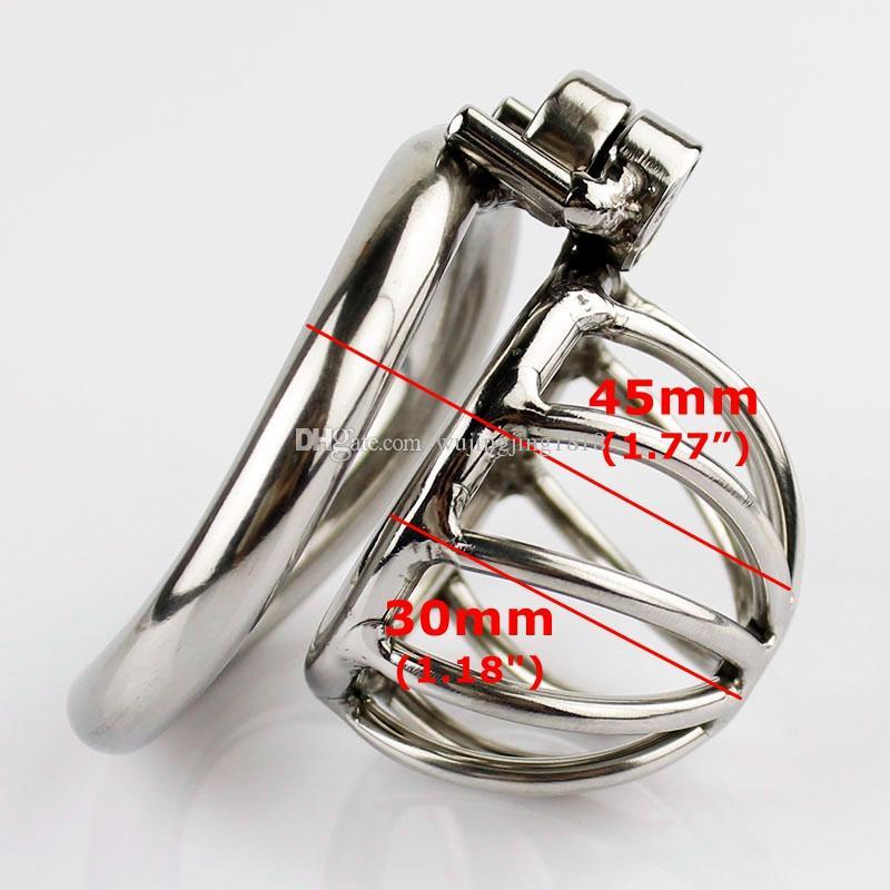 새로운 스테인레스 스틸 슈퍼 작은 남성 정장 장치 커브 수탉 반지와 성인 수탉 케이지 BDSM 섹스 토이 속박 정조대