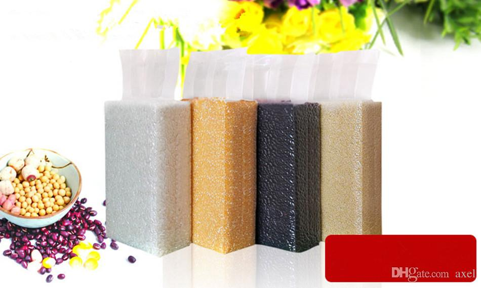10x5x32cm Stand Up Vacuum Food Saver Conservazione degli imballi Trasparenti Sacchetti in plastica Spuntini Fagioli di frutta secca Contenitore di tè di riso Termosaldatura Sacchetto di immagazzinaggio