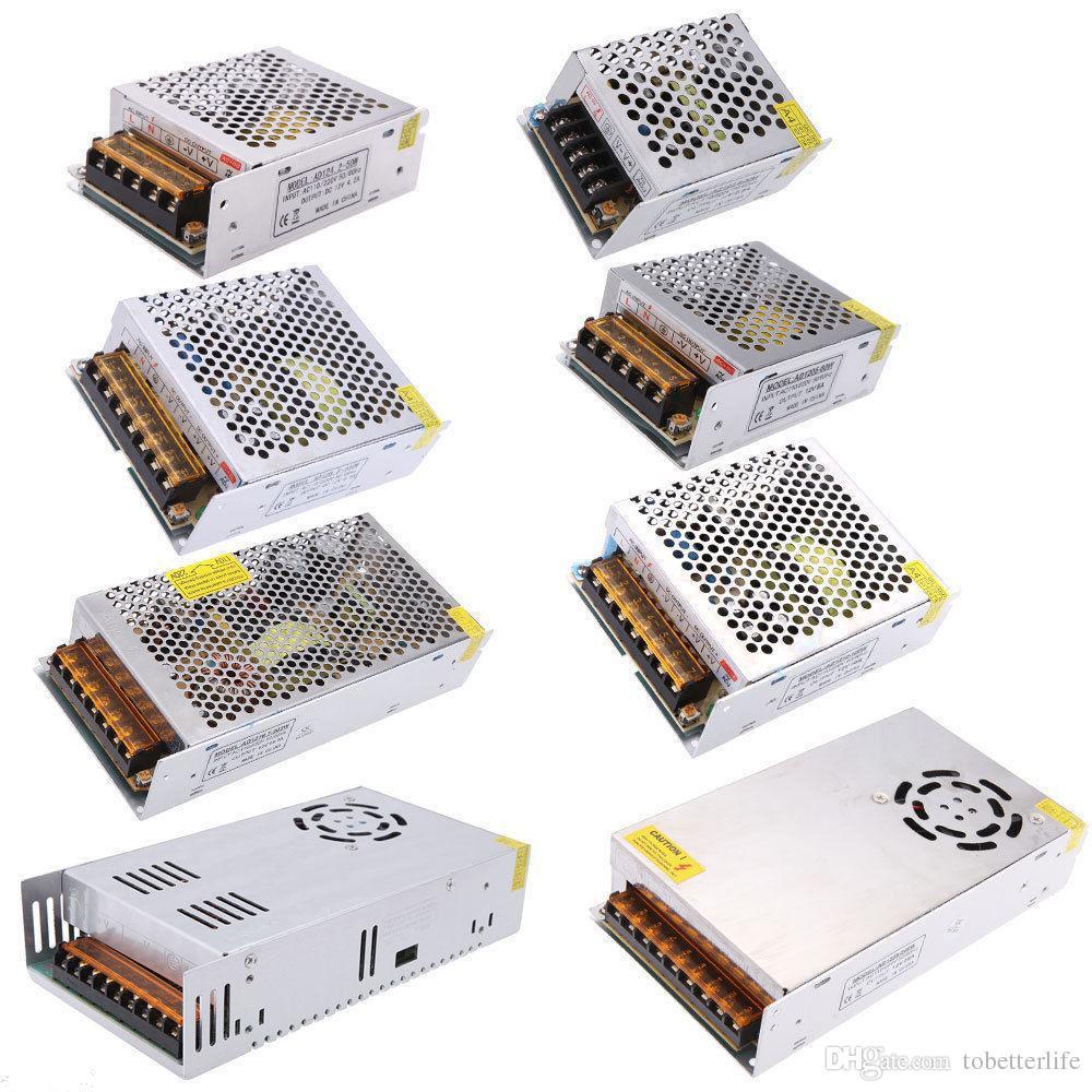 LED Anahtarlama Güç Kaynağı Trafo METAL Led sürücü 12 V 5A 60 W 120 W 180 W 180 W 480 W giriş 110 v 220 v ile Led Şeritler Modülleri Için fan