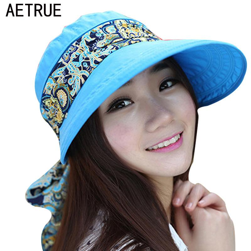 59fbecb3e18 Wholesale- 2017 Summer Hats For Women Chapeu Feminino Beach Sun Hats ...