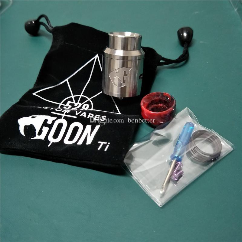 528 titane fait sur commande de Goon V1.5 RDA 24mm avec des atomiseurs de mod de vape de fil 510 avec l'égouttement supplémentaire de PEI pour la vente en gros