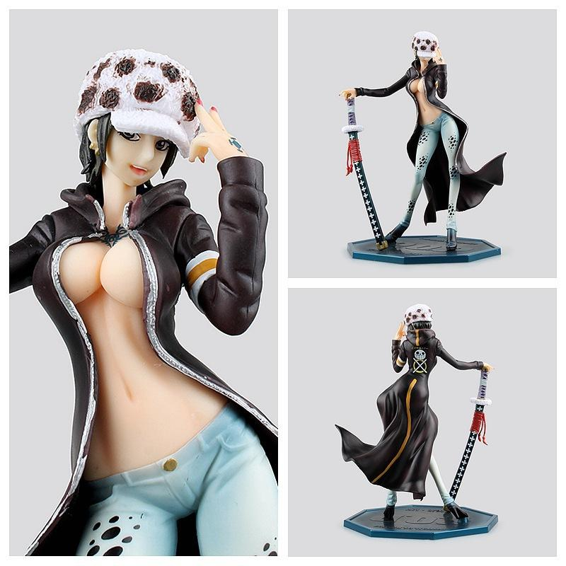 Best Quality Figurine Trafalgar L Girl Ver Pvc Figure 220 Mm Pop One Piece Lady Right Death Doctor Sexy Anime Toys Fig At Cheap Price Online Movies Video