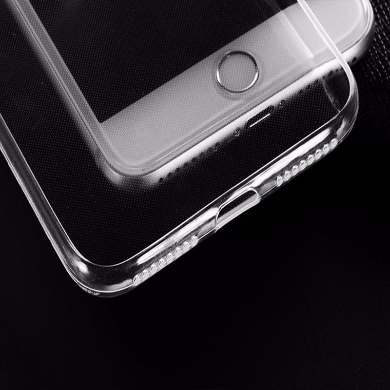 Christmas gift for iphone 7 8 plus TPU clear case Full Protective soft Front Back Cover cases