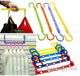 Magic Coat Hanger Multi Function Porous Hangers Laundry Supplies Plastic Clothes Rack Save Space Anticorrosive Hot Sale 0 58jj C R