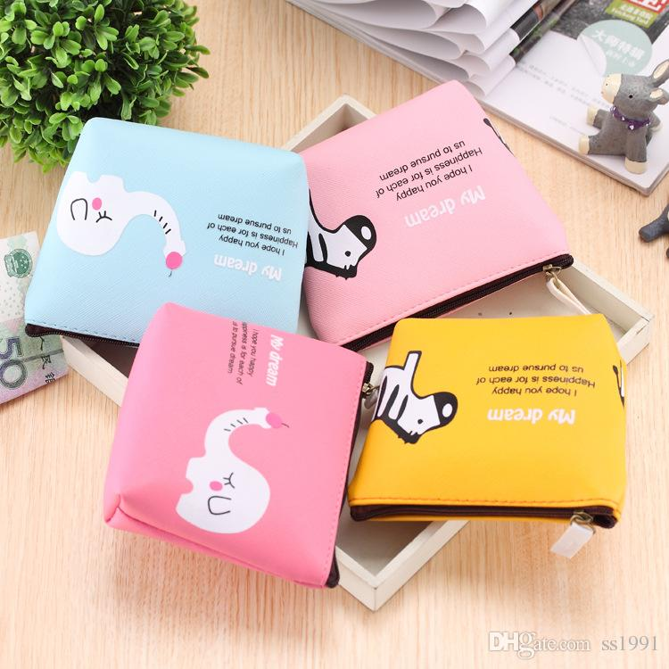 Canvas bag package cute animal park creative simple male and female student wallet cartoon animal coin bag