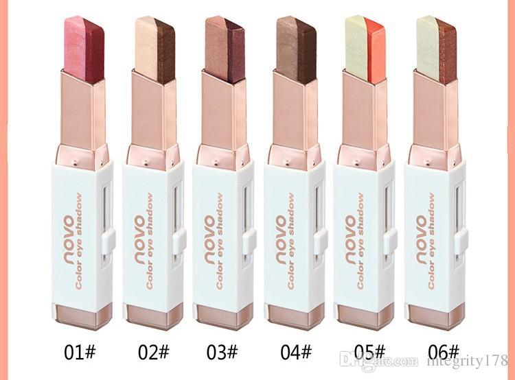NOVO Farbe Lidschatten 6 verschiedene Farben 3.8g Samt Farbverlauf Lidschatten Stick / DHL