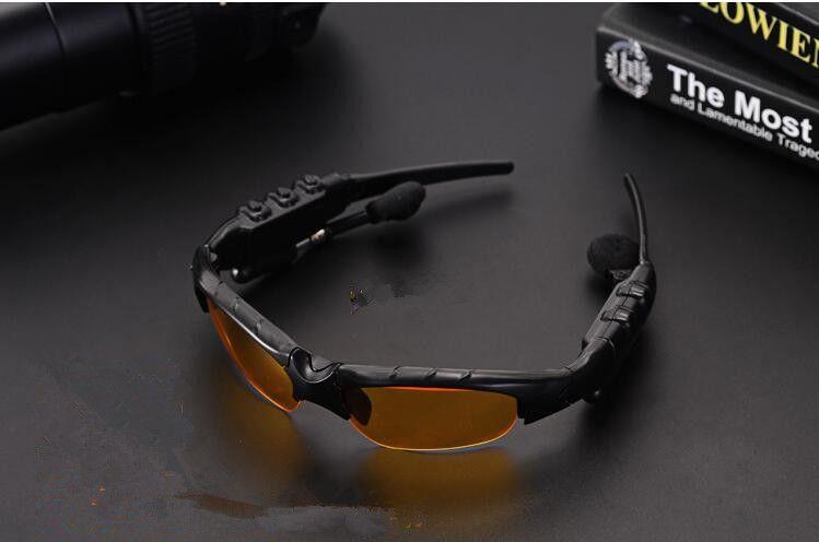 Hot Universal Estéreo Deportes Inalámbrico Bluetooth Gafas de sol Auriculares Música Manos Libres Auricular Auricular para Smart Phone Tablet PC