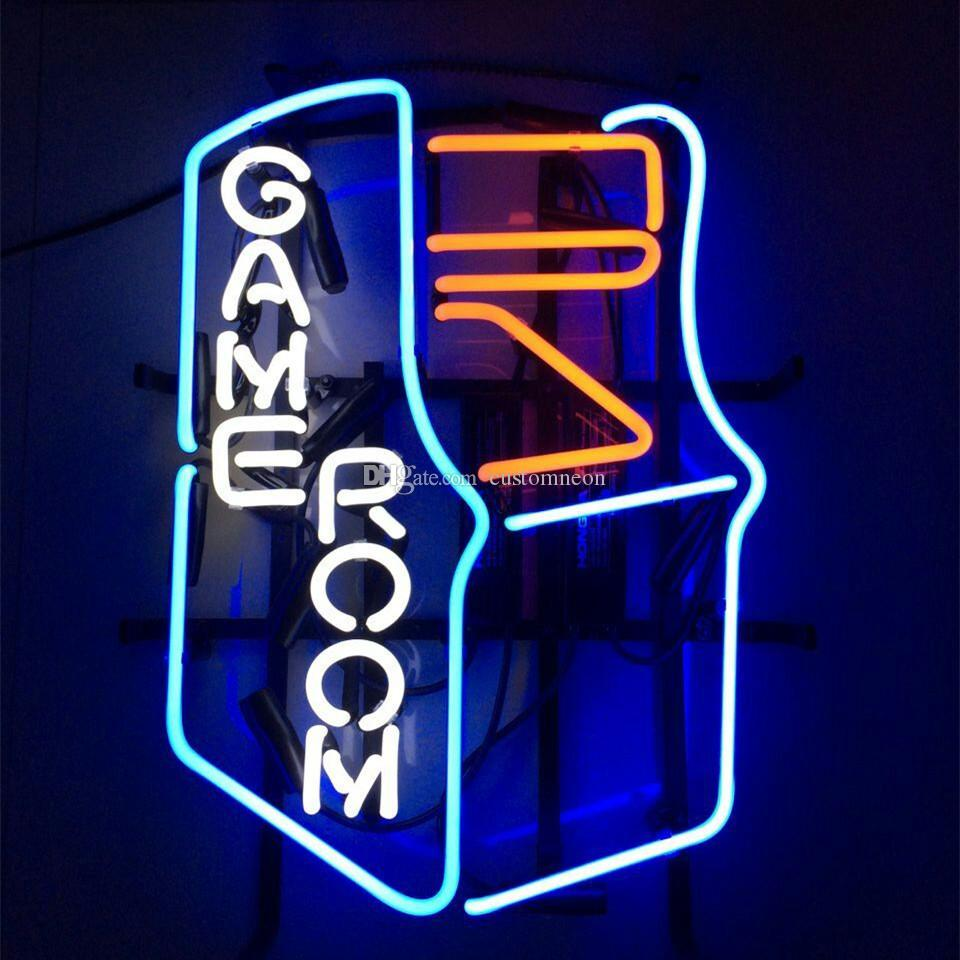 2018 17x14 game room man cave decor real glass neon light beer bar