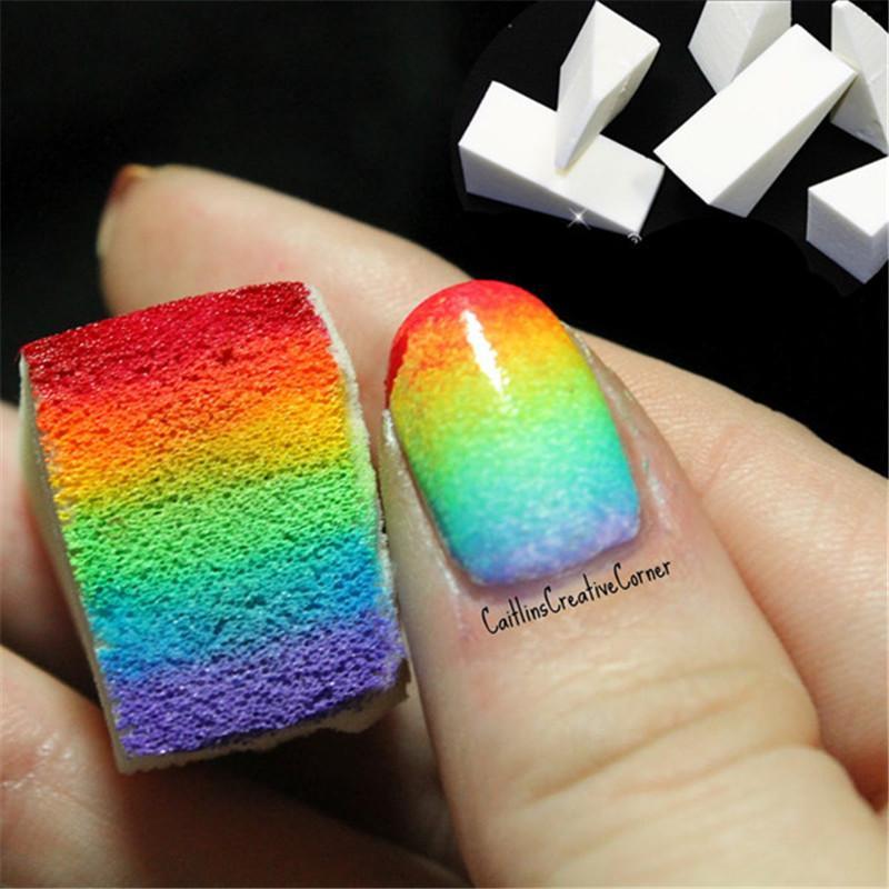 Wholesale Gradient Nails Soft Sponges For Color Fade Manicure Color