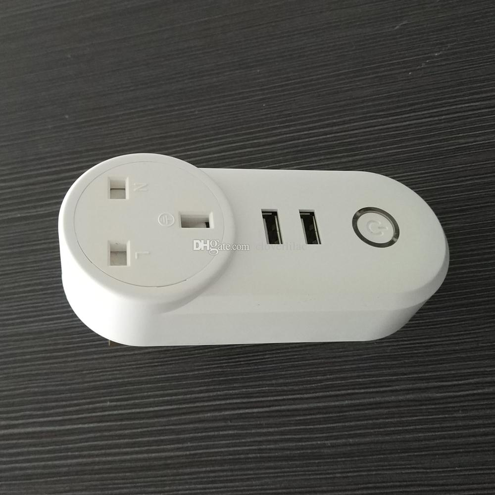 Good Quality Uk Type Wifi Smart Power Plug With 2 Usb Outputs And ...
