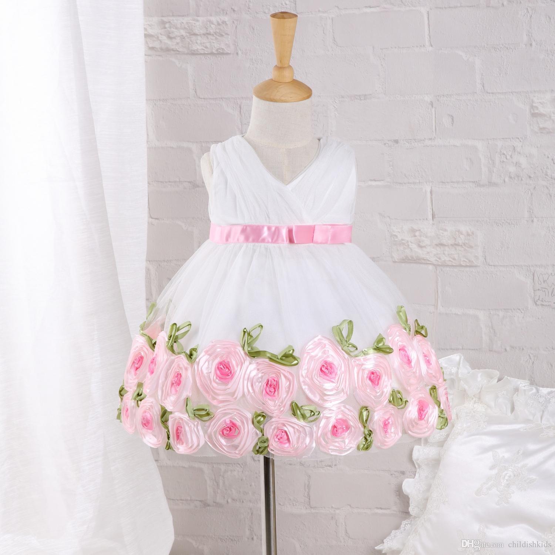 Großhandel Sommer Heiße Entwurfsbaby Weiße Rosafarbene Art Formales ...