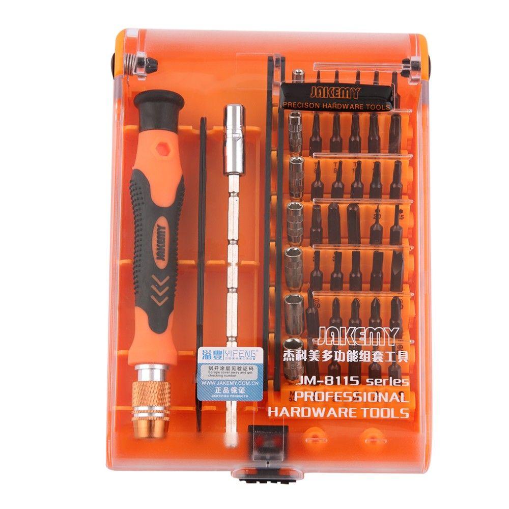 Jakemy novo jm-8115 45 em 1 conjunto de chave de fenda de precisão desmontar laptop telefone