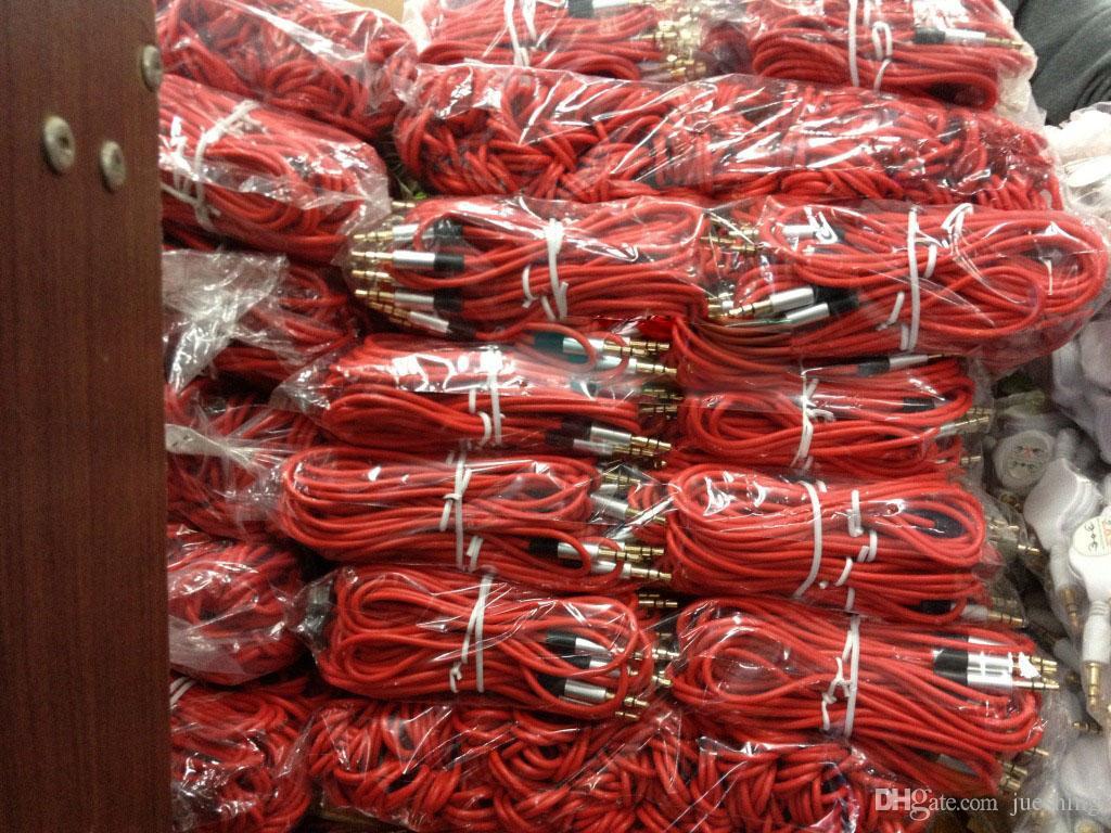 / 3.5mm Audiokabelschnur Auto-Zusatz-Verlängerungskabel 120cm für mp3 für das Telefon bunt auf Lager frei DHL / FEdex