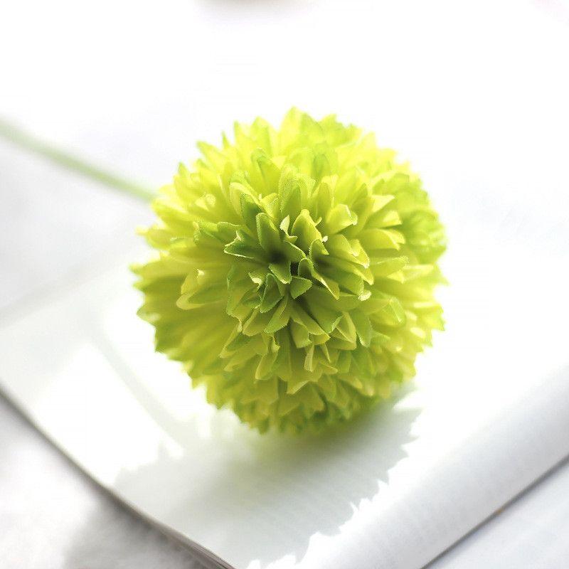 Wholesale Decorative Artificial Slik Flowers hydrangea green onion ball imitation flowers Weeding Home Decor Festival Party Supplies