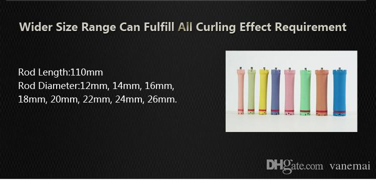 2017 hot sale salon use hair perm roller, rod, curler, DC material, water-proof, 36V, size 26