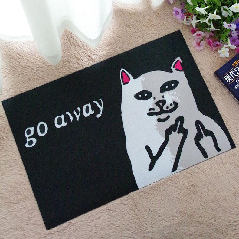 2017 New Funny Home Carpets Cat Go Away Doormat Living Room Rugs Floor Mats Anti-Slip Bathroom Mat Tapete Para Quarto MFL16