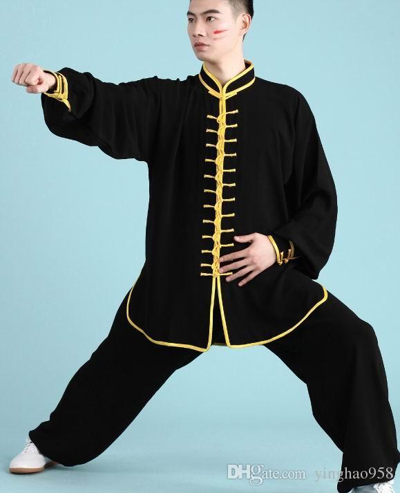 Jiajia хлопок тай-чи мужчины и женщины весной и осенью 13 вычет боевых искусств производительность тай-чи бокс практика униформа костюм