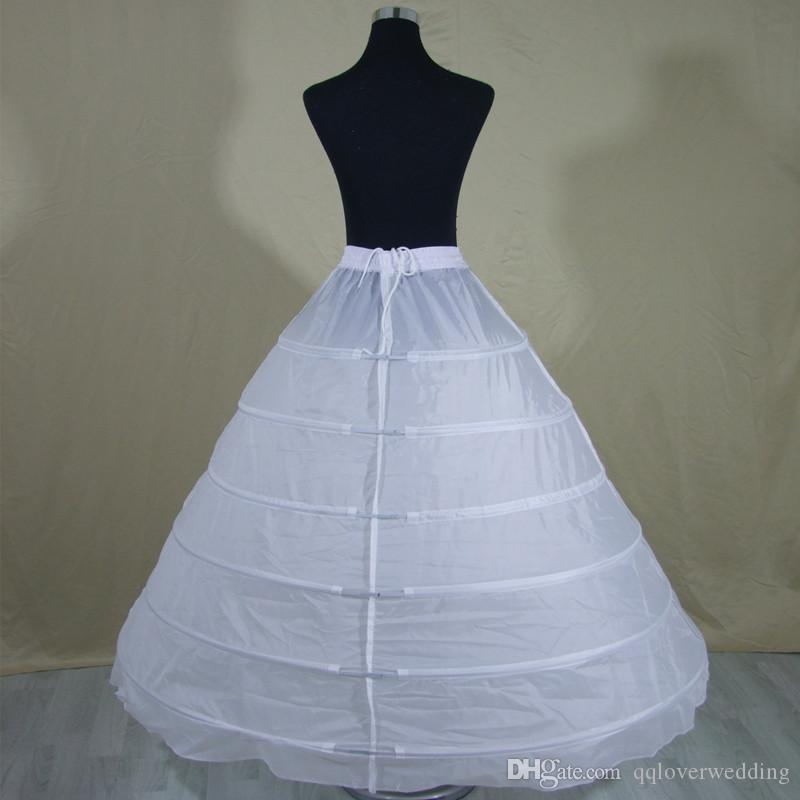 2017 weiß 6 Hoops Petticoat Mehr Geschwollene Große Petticoats Krinoline Slip Unterrock Braut Prinzessin Petticoat Braut Unterrock