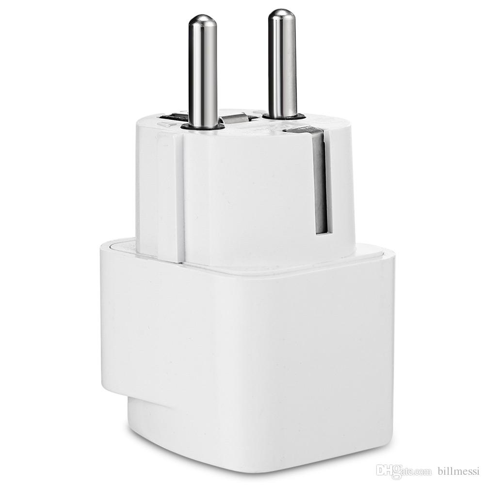 Universal EU Plug Travel Wall AC Power Adapter Charger Outlet Socket Converter 2-foot Round Input Pin Hot HIGH QUALITY +B