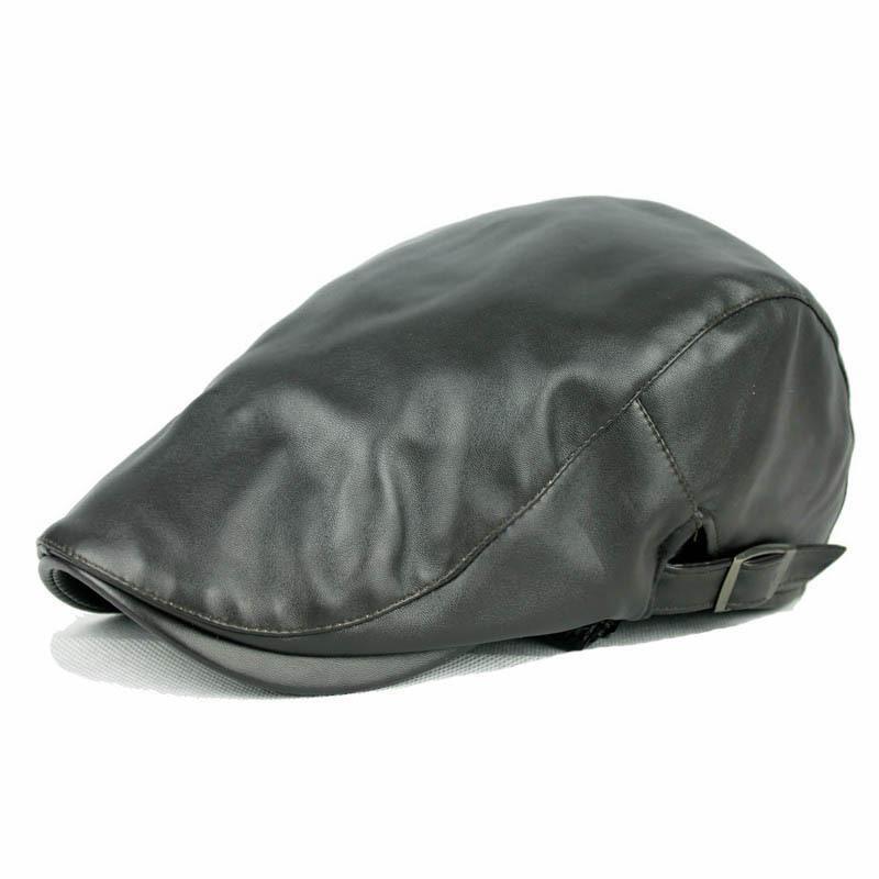Compre Sombreros Calientes Al Por Mayor Otoño E Invierno Para Hombres Boina  De Cuero Boinas Gorras Planas Boinas Masculinas es Para Elegir A  22.13 Del  ... 0f3caace5cc