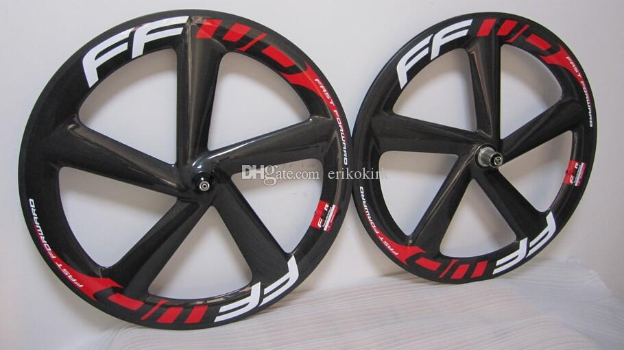 OEM FFWD carbon bicycles wheel 5 spokes wheel clincher Road bike wheels/track wheelset 23mm width clincher
