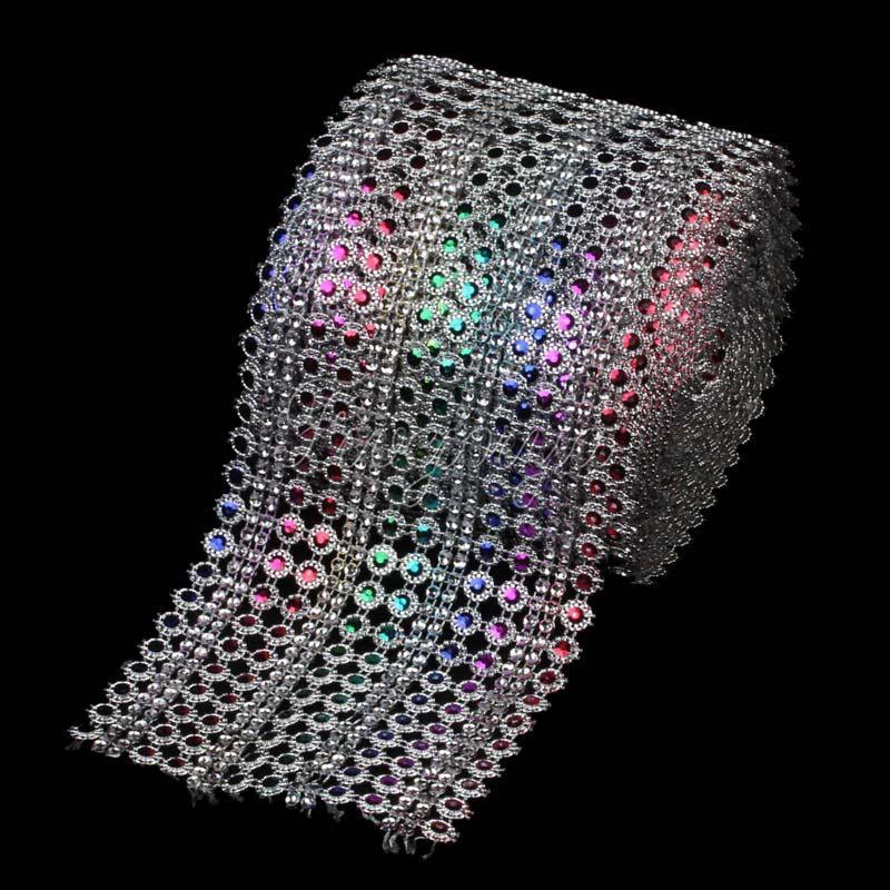 Großhandel Großhandels 1yard 3ft X 12cm Regenbogen Farben Diamant ...
