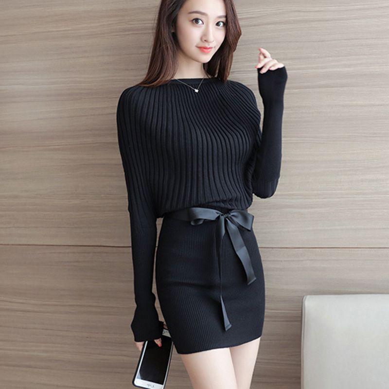 Winter Dress 2017 Korean Fashion Autumn Vestidos Batwing ...