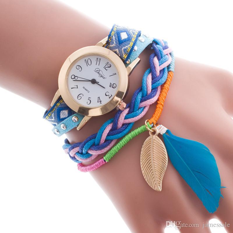 Cinturino in pelle con cinturino in pelle, orologio da polso con diamanti, orologi da donna