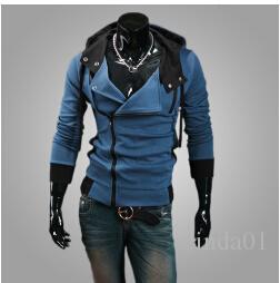 플러스 사이즈 새로운 패션 세련된 남자 자객 크리프 9 Desmond Miles 코스튬 까마귀 코스튬 코트 자켓