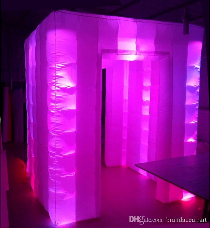 Надувное фото стенд аренда дисплея для события с красочным освещением