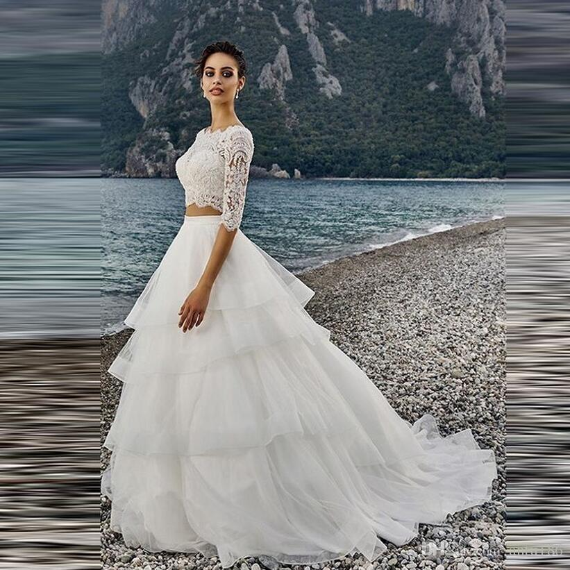 Resmi Düğün bel Etek Custom Made Beyaz Katmanlı Katmanlı Ruffles Tül Etek Uzun Maxi Tutu Etekler Kadınlar