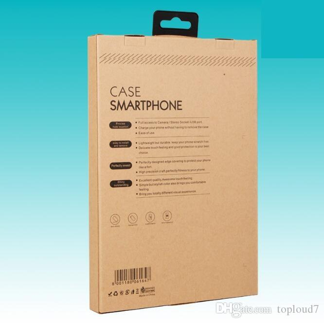 Hook Kraft Brown Paper Retail Box Packaging boxes for 9.7 iPad 6 5 3 4 mini 2 3 4 PU Leather Case