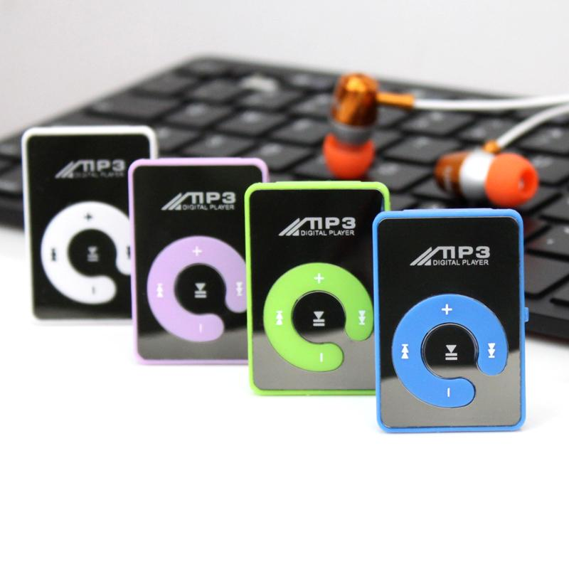Wholesale- Fashion Mini Clips mp3 Player sports Portable mp3 music player media player Supports 32GB Micro SD