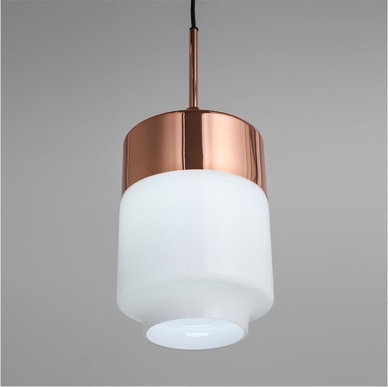 Single head Modren Pendant Light Fashion Glass Pendant Lamp Creative Iron Hanging Light Fixtures Lamparas Verlichting Luminair