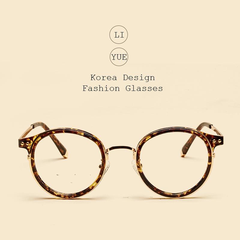 a83adb4010c9 Wholesale- LIYUE Myopia Spectacles Frame Metal Legs Round Eyewear ...