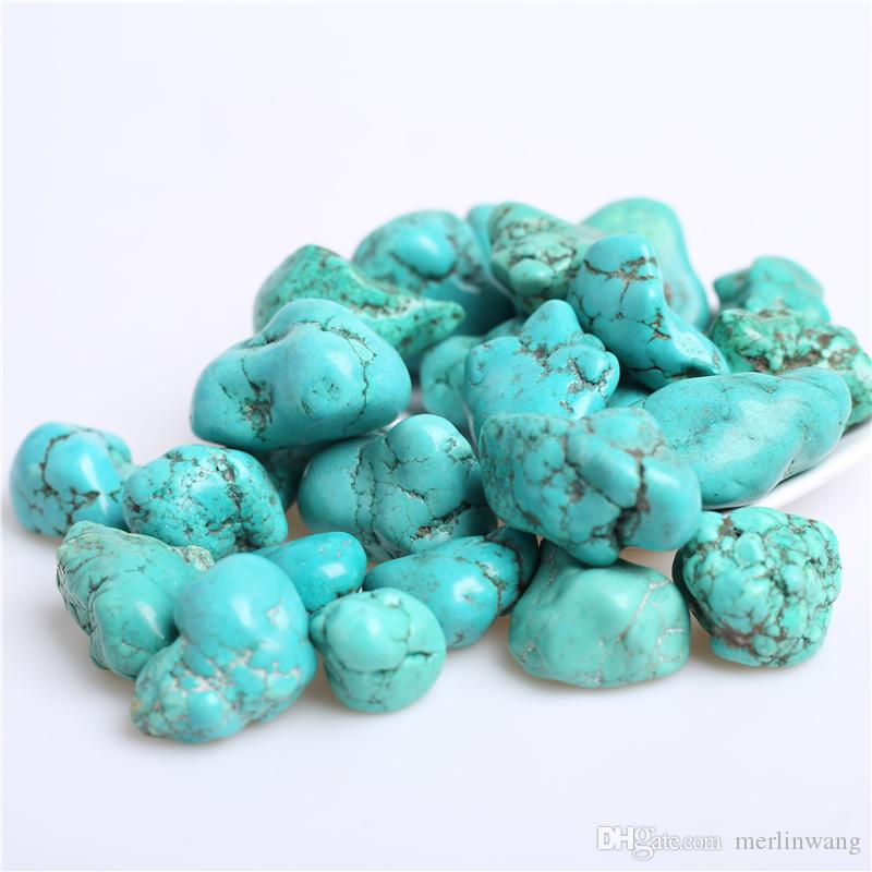 FREE SHIPPING&POUCH!! Wholesale 200g Bulk Big Tumbled Stone Turquoise Crystal Mineral Beads Healing reiki & good lucky energy stones 20-30mm