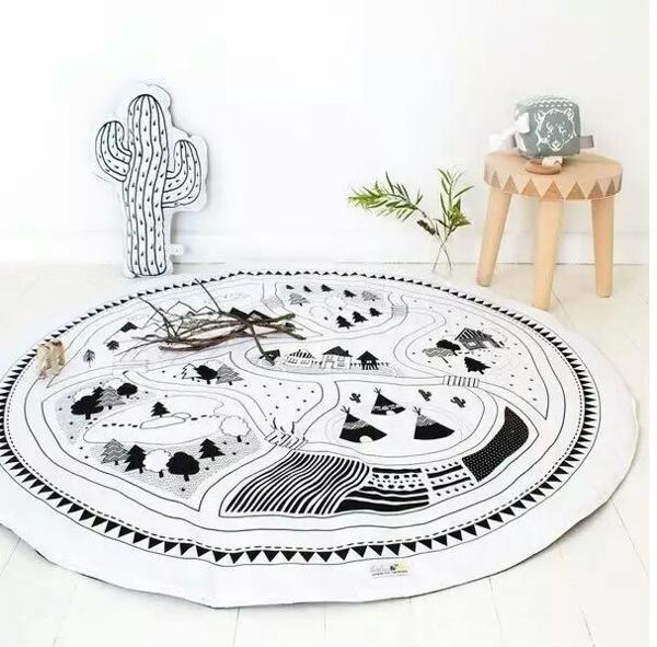 2019 Hand Printed Kids Play Game Mats Baby Room Crawling Blankets