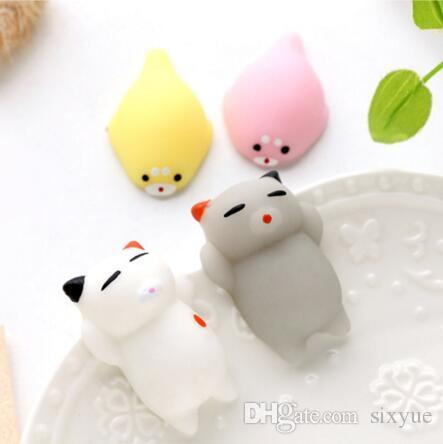 Squishy Slow Rising Jumbo Toy Bun Toys Animals Cute Kawaii Squeeze Cartoon Toy Mini Squishies Cat Squishiy Fashion Rare Animal Gifts Charms