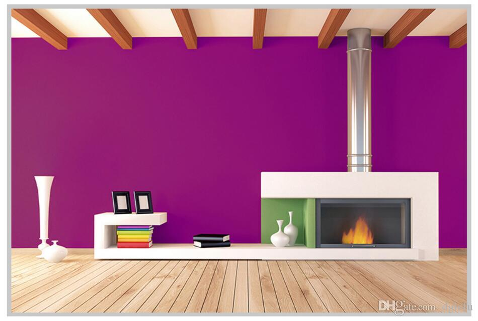 Lefu 60cm*3m Attractive Purple Wallpaper Warmth Pvc Film Self ...