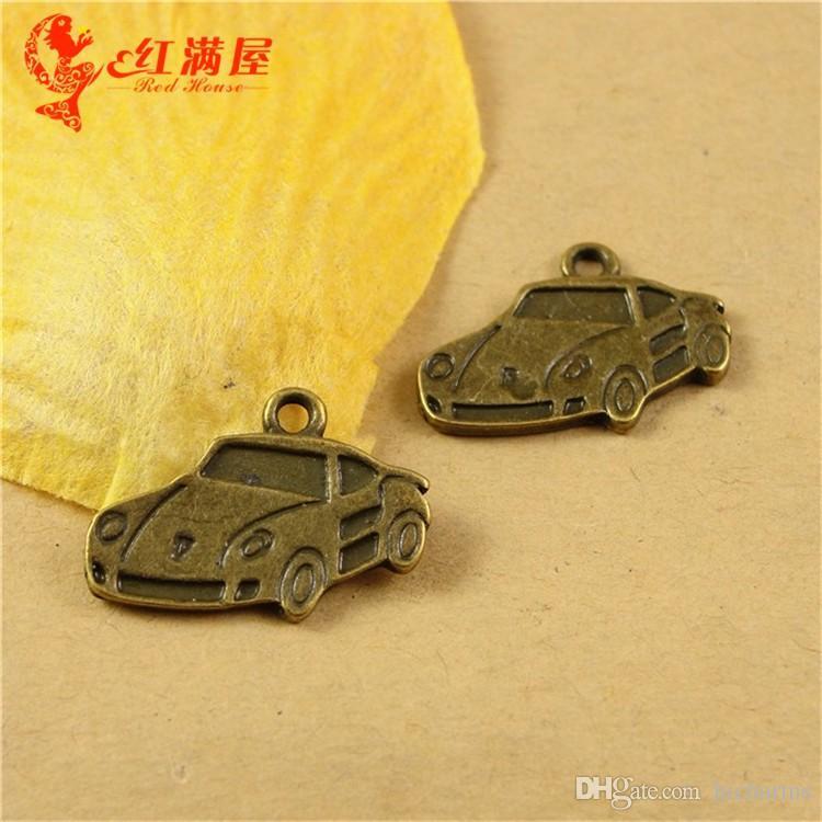 21 * 13 мм античная бронза спортивный автомобиль подвески для браслет, металл мотаться старинные гоночный автомобиль кулон для ожерелье, мода тибетский сплав подвески