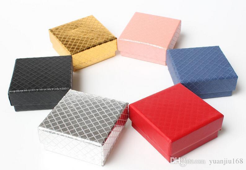 Diamond 7 * 7 Jewelry Box Gioielli Gioielli Imballaggio confezione scatola di cartone
