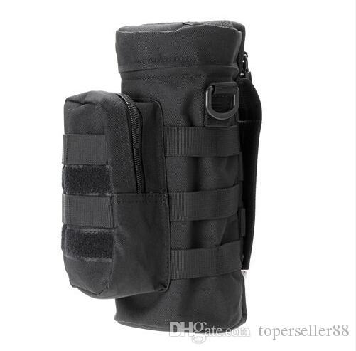 Molle Outdoors Tactical Gear Botella de agua Bolsa Hervidor Cintura Bolso bandolera para fanáticos del ejército Bolsas de botellas coloridas Bolsas de escalada
