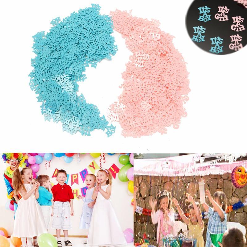 (250PCS / Lot) ES UNA CHICA o ES UN MUCHACHO Niños Bebé Bautizo Confeti Con lentejuelas Mesa derramada Cumpleaños Ducha Fiesta Decoración para el hogar